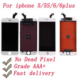 Iphone Color Lcd White Black Australia - LCD Display Touch Screen Digitizer Assembly No Dead Pixel Black & White color for iphone 5 6 6s & 6 6s Plus