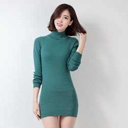 $enCountryForm.capitalKeyWord Canada - Soft Comfortable Hot Sale 2017 New Fashion Winter Wool Cashmere Women Dress Knitted Pullovers Tops Turtleneck Slim Warm Sweaters