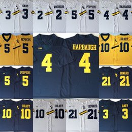 Mens Michigan Wolverines College Jersey 3 Rashan Gary 2 Charles Woodson 21 Desmond  Howard 10 Tom Brady Jersey Hot Sale Football Jerseys 864116744