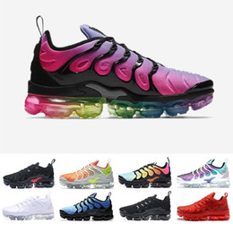 timeless design b4c46 30d5a Nike air 2018 airmax Vapormax TN Plus oliva en max metalizado blanco plata  Colorways zapatos hombres zapatos para correr Male Shoe Pack Triple negro  zapatos ...