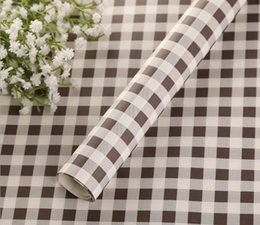 $enCountryForm.capitalKeyWord Canada - Flower Wrapping Paper Bouquet Gift Wrap Black Grid Packaging Paper Wallpaper DIY Material Wedding Favor Party Supplies 50PCS Roll