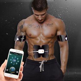 $enCountryForm.capitalKeyWord Australia - Smart App Multi EMS Abdominal Muscle Trainer Electronic Muscle Stimulator Exerciser Machine Body Slimming Fitness Massage Suit