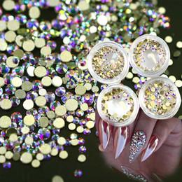 3d Nail Decor Canada - 120pcs 1box New 2017 Gold AB Glier Shinning Crystal Nail Rhinestones 3d Beauty Shinning DIY Nails Decor Accessory NJ245