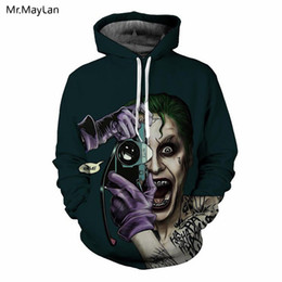 $enCountryForm.capitalKeyWord Australia - Horror Movie Joker Taking Photos 3D Print Hat Sweatshirts Men Women Cool Punk Pullovers Hoodies Jacket Boys Casual Outfits 5XL