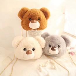 Brown Bear Backpack Australia - 2018 New Fashion bear Cute Kawaii adult Beauty Baby kids Plush Backpack for women Children's Shoulder Bag for Girls