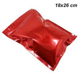 $enCountryForm.capitalKeyWord UK - Red 18x26 cm 50 Pieces Retail Zipper Aluminium Foil Heat Seal Sample Packets Foil Pouch Mylar Foil Reusable Grocery Bags for Grains Seeds