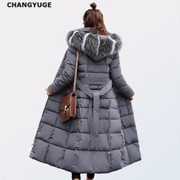 White extra long coat online shopping - CHANGYUGE Winter Women Ultra Light Down Jackets Slim Hooded Extra Long Women White Duck Down Padded Coats Warm Belt Parkas