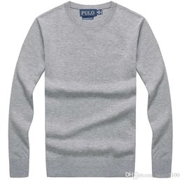 polo neck sweaters men NZ - Men's sweater knitting Brand polo sweater pullover jerseys men Sweaters O-Neck 95% cotton size S-XXL