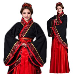 black queen cosplay 2019 - Chinese Women Han Fu Clothing Suit Ancient Queen Princess Dress Vintage Cosplay Clothes Traditional Dance Performance Co