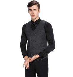 British Slim Suits NZ - 2018 Hot popular men's vest best selling new casual double-breasted suit vest British business slim vest wholesale sales