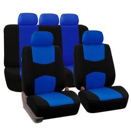 Fundas de Asientos Auto2011 Asiento de Coche Completo Cubierta Universal Fit Accesorios Interiores Protector Color Gris Car-Styling