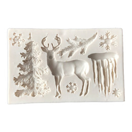 $enCountryForm.capitalKeyWord UK - CORATED Useful Christmas Tree Elk Snowflake Silicone Mold Chocolate Jelly Baking Mould Sugar Craft Tools Fondant Cake Decorating