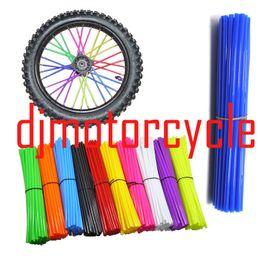 72 шт. / пакет один размер подходит для всех говорил шкуры колеса Rrim спицы кожухи чехол для Кавасаки яму велосипед грязи мотоцикл CRF YZF KLX KX RMZ MX.