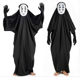 Discount cloth free tv - FREE SHIPPING Chihiro no kamikakushi Spirited away cosplay chaos no face man costume with cloth ,mask and gloves