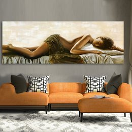figures Australia - Wall Canvas Art Pictures For Living Room Home Decor Sleeping Beauty Figure Painting Frameless