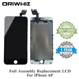 replacement panels NZ - Easy Install Screen Replacement LCD For iPhone 6 Plus Full Assembly Kit with Front Camera + Ear Speaker + Proximity Sensor + Repairing Tools
