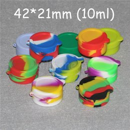 Silicone Toys Australia - Wax containers silicone box 3ml 5ml 10ml Non-stick silicon container food grade jars dab tool storage jar oil holder for vaporizer vape