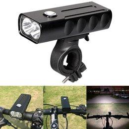 Impermeável Recarregável USB 1000LM 2 LED Lâmpada de Bicicleta com Suporte de Rotação de 360 Graus Suporte 3 Modos de Luz BLL_026
