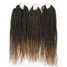 """Braid Yellow UK - ZXTRESS Synthetic Hair Senegalese Twist Braiding Hair Extensions 3Pcs Pack 12"""" 81 Strands Heat Resistant Ombre Crochet Braids Free Shipping"""