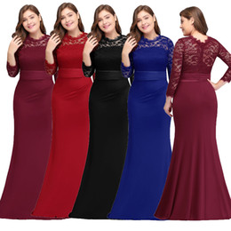 Großhandel Robe de Soiree Plus Size Abendkleider Günstige Red Royal Blue Lange Meerjungfrau Abend Party Kleider Kleid Vestido De Festa CPA613