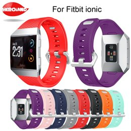 Design Genuine Leather NZ - For fitbit ionic Watchband Design Genuine Leather wrist Strap Band Smart Bracelet With Stainless Steel Buckle Replace strap Band