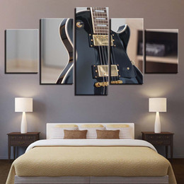 $enCountryForm.capitalKeyWord Australia - Canvas Paintings Wall Art HD Prints Poster 5 Pieces Rock Electric Guitar Musical Instrument Pictures For Living Room Home Decor