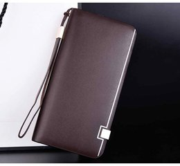 candy wallets wholesale Canada - 2018 Luxury Male Leather Purse Men's Clutch Wallets Handy Bags Business Carteras Mujer Wallets Men Black Brown Dollar Price