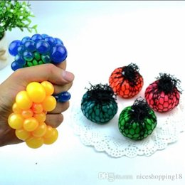 Wholesale New Kid Gadgets Australia - 2018 new 6cm Cute Anti Stress Face Reliever Grape Ball Autism Mood Squeeze Relief Healthy Toy Funny Gadget Vent Decompression toys