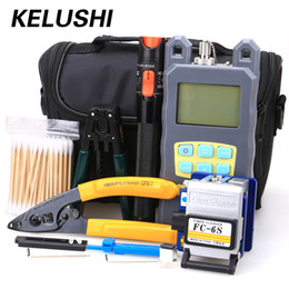 Fc Sc NZ - KELUSHI 19 in 1 Fiber Optic FH Tool Kit with FC SC Connector + Red Laser Fiber Optic Cable Tester Visual Fault locator