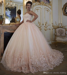 $enCountryForm.capitalKeyWord Australia - Vintage Lace Ball Gown Wedding Dresses Bridal Gowns Turkey Lace Bling Beaded Tulle Sweetheart Corset Back Puffy Plus Size 2017
