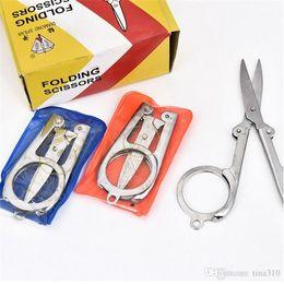 Diamond Scissors Australia - Diamond Spear Hot Sale Home Portable Folding Scissors Mini Folding Foldable Scissors Travel Scissor Color Silver 4139