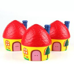 Toy mobiles online shopping - 12 CM Red Cartoon House Mold Slow Rising Cute Squishy Toy Phone Straps Mobile Phone PU Squeeze Strap OOA5067