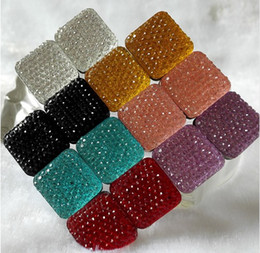 indian style brooches Canada - 36 PCS Square Magnet Brooch For Women Exquisite Rhinestone Magnetic Brooches Vintage Style Women Scarf Clips Two-sided