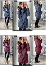 backless sweater long sleeve 2019 - Women Side Zipper Winter Autumn Coat Long Sleeve Fleece Hoodie Sweater Outdoor Casual Pullover Top Clothes High Collar J