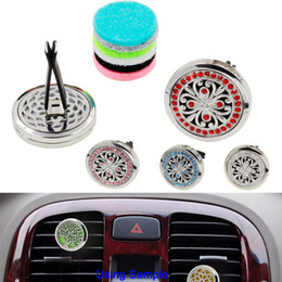 bulk cars Canada - Car Vent Air Freshener Aromatherapy Essential Oil Diffuser with 5PCS Free Washable Felt Pads Gifts For Girls Free shipping