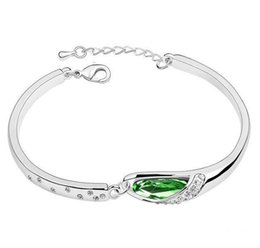 Discount swarovski elements crystal bracelets women - 12% off Wholesale CZ Crystal Horse Eye Bracelet for Women made With Swarovski Elements Nice Gift Bridal Jewelry Sale