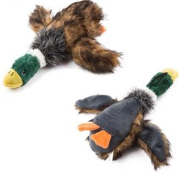 Brinquedo do cão Som Pato de Pelúcia Brinquedos de Pelúcia Pato de Pato Ralado Pelúcia Filhote de cachorro de Pelúcia Honking Pato para Cães Pet Chew Squeaker Squeaky Toy