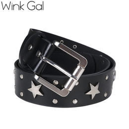 Star Belts Australia - Wink Gal Brand Belt Wide Belt Star Buckle High Quality Women Leather Belts 10192