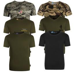 Discount combat camo shirt - New Summer Camouflage Men T-shirt Casual Tactical Army Combat O Neck T Shirt Men Quick Dry Short Sleeve Camo Clothing 7