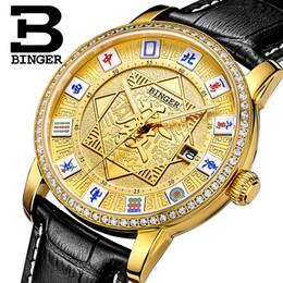 Wrist Watch Binger Australia - Switzerland BINGER Mens Watches Brand Luxury Watch Automatic Mechanical Men Watch Sapphire Wrist Male reloj hombre B5055-4