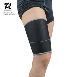 knees protector 2019 - Compression Stretch Brace Thigh Skin Protector Safe Leg Sleeve Support Brace Knee Pads cheap knees protector