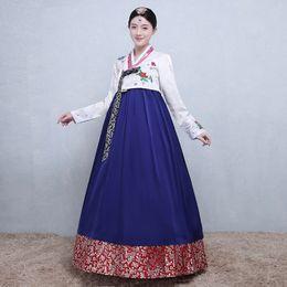$enCountryForm.capitalKeyWord UK - Women Korean Ethnic Costumes Embroidered Traditional Korean Hanbok Long Sleeve Lady Aisa Clothing for Stage Performance