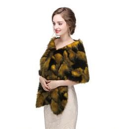 $enCountryForm.capitalKeyWord UK - CMS15 New Faux Fur Wrap Cape Stole Shawl Cover Up bridal shrug Bridal Wrap Women Shawl For Special Occasion