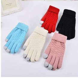Women's Gloves Loyal Christmas Xmas Fashion Womens Ladies Bowknot Thermal Lined Touch Screen Cotton Gloves Winter Warm Black Gray Red
