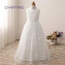 $enCountryForm.capitalKeyWord NZ - White dress White round neck lace embroidery craft long European and American wedding flower children lace wedding dress dress