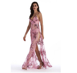 50634b73 Elegant sequin tassel maxi mermaid See-through dress Women evening party  summer dress 2017 sexy backless mesh long dress