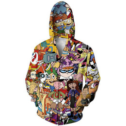 Chinese  Anime Hoodies And Sweatshirt Men New Fashion 3D Print Cartoon Zipper Hoody Hip Hop Hooded Streetwear Leisure Unisex Graphic Tops manufacturers