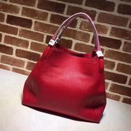 $enCountryForm.capitalKeyWord Canada - Women Handbag genuine leather Tote fashion designer female crossbody shoulder bag color red black pink grey free shipping big size
