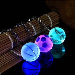 $enCountryForm.capitalKeyWord Australia - Seven Colour Crystal Ball LED Keychain Glass Ball Engraving 3D Football Globe Basketball Crystal Ball Colorful Keyring A3