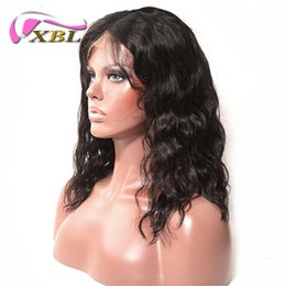 Remy human haiR shoRt wavy wig online shopping - XBLHair Wavy Short Bob Wigs Lace Front Human Hair Wigs For Black Women Pre Plucked Peruvian Remy Hair Wigs With Baby Hair